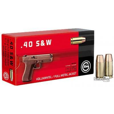 B - 50 CARTOUCHES 40S&W FMJ 180GRS