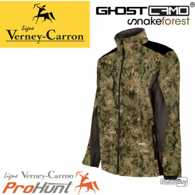 8a0ac01d68e60 BLOUSON VERNEY-CARRON PROHUNT SOFTSHELL SNAKE - GHOST CAMO SNAKE FOREST,  TAILLE L