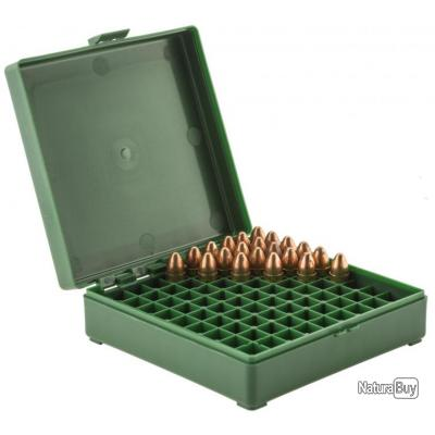 Boîte de rangement 100 munitions cal. 9 x 19 Boîte Mégaline