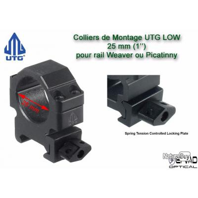 Colliers UTG Low  - 25mm pour rail de 21mm