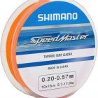 BAS DE LIGNE MER SHIMANO SPEEDMASTER TAPERED SURF LEADER 150 57/100 23/100 Résistance : 3.6-17kg