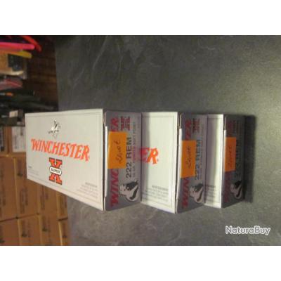 Balles winchester 222 REM 50grains power point à 21€ la boite