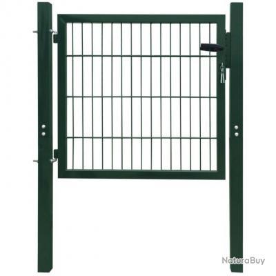 portillon 106 x 150 cm acier vert jardini res soucoupe 4218310. Black Bedroom Furniture Sets. Home Design Ideas