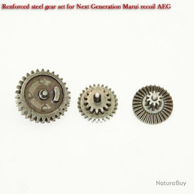 Renforced steel gear set for Next Generation Marui recoil AEG