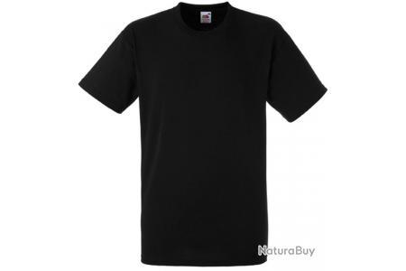 Lot de 5  tee-shirt HEAVY-T Fruit Of The Loom noir 185gr SC61212