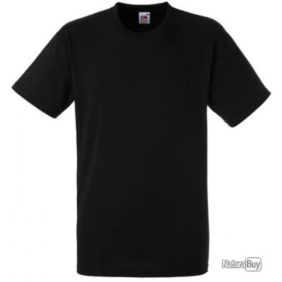 Tee-shirt noir Fruit Of The Loom - Taille XL
