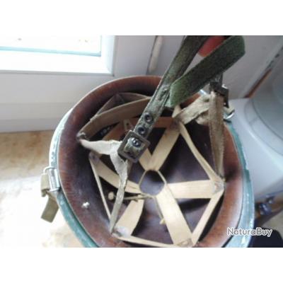 casque para parachutiste US FR TAP troupes aéroportées1954 guerre transformé indo indochine