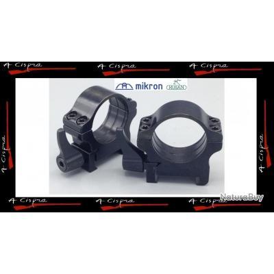Colliers Acier amovibles MEDIUM Plus - Diam.30mm - Rusan Quick-release pour rails weaver & picatinny