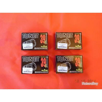 4 boites de 5 Balles 12 Tunet, super Brenneke, 39 grammes de plomb