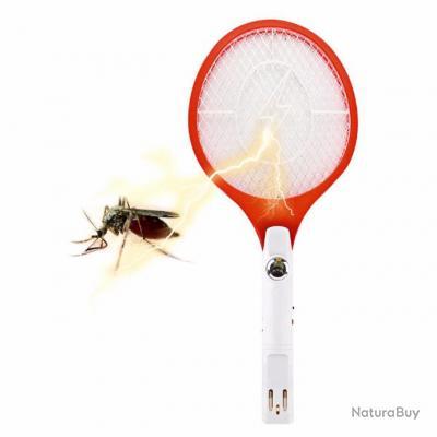 Raquette electrique tue mouche avec led et prise secteur - Raquette electrique mouche ...