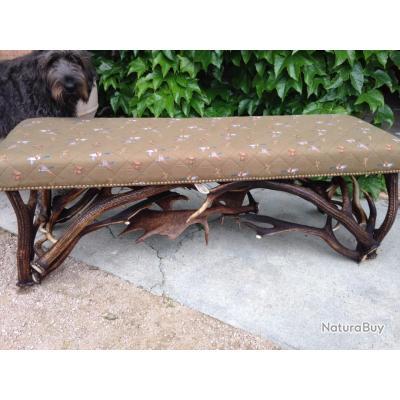 banquette bois de cerf et palette de daim luminaires et mobilier 4293660. Black Bedroom Furniture Sets. Home Design Ideas