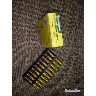 boite de 20 cartouches REMINGTON de calibre 7 mm STW à balle demi blindé CORE LOCKT PSP 140 grains