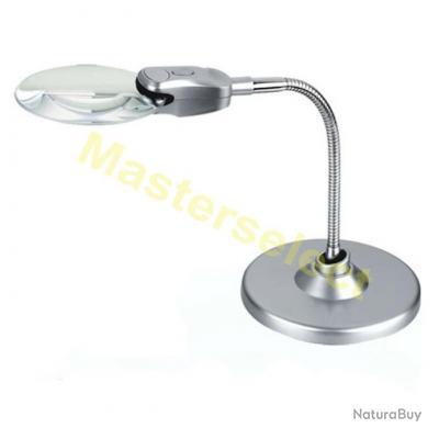 Loupe flexible sur pied pour table 90mm avec lampe a 2 - Pieds pliables pour table ...