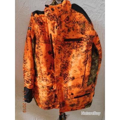 Veste de chasse pour battue orange fluo Pro Hunt