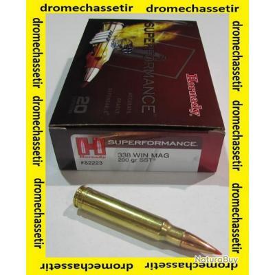 1 boite neuve de 20 cartouches calibre 338 winchetser Magnum, Hornady SST 200 grs