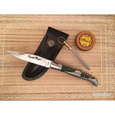 couteau laguiole bougna avec tire bouchon fusil pour aiguiser boite de graisse couteaux. Black Bedroom Furniture Sets. Home Design Ideas