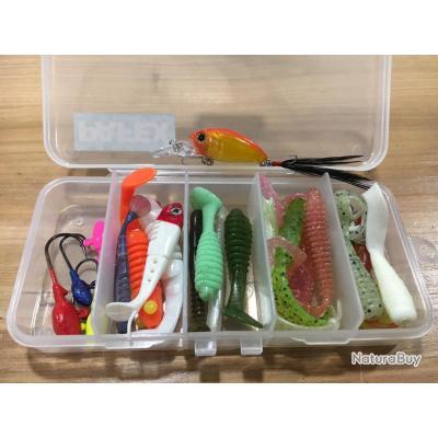 Box perche esprit pêche leurre souple