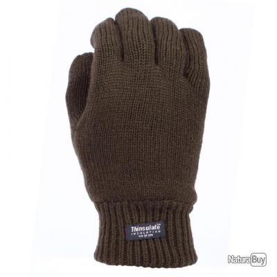 GANTS THINSULATE - COULEUR OLIVE DRAB - TAILLE S = 8   - 221214
