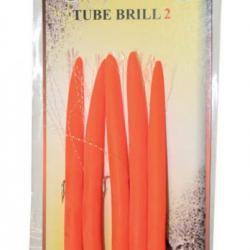 Autain LEURRE ANGUILLON Tube Brill Orange par 5-5 N/°2