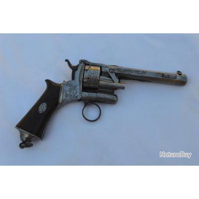 LEPAGE MOUTIER A PARIS REVOLVER Mle 1858 Cal 9mm Lepage - FR XIXè France Très bon  XIX eme Civil Cat