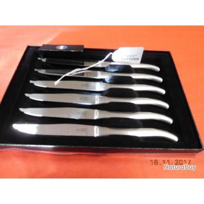 6 couteaux de table monobloc , laguiole G.DAVID, réf 4598