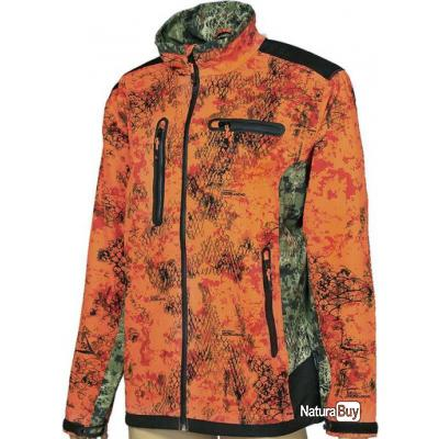 f4ca6924b5cfd BLOUSON HOMME LIGNE VERNEY-CARRON SOFTSHELL SNAKE - GHOST CAMO XL Ghost Camo