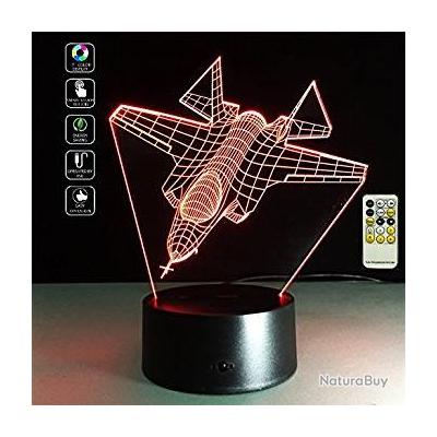 Illusion Télécommande De 3d Lampe Chasse Optique Led Avion dCBxeWro