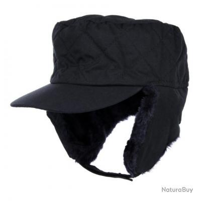 casquette d'hiver fourrée  - couleur NOIR - taille L = 58/59 - 215183 fin de série