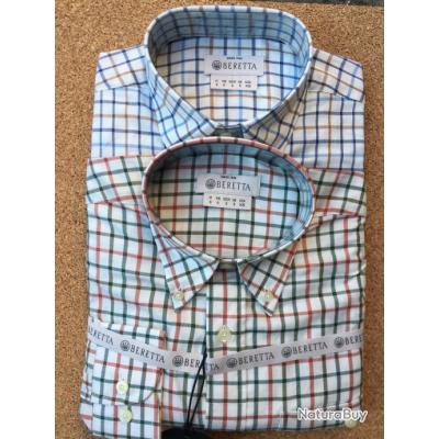 Lot de 2 Chemises Beretta , Man's Classic Shirt, idée cadeaux, Prix sacrifié !!!