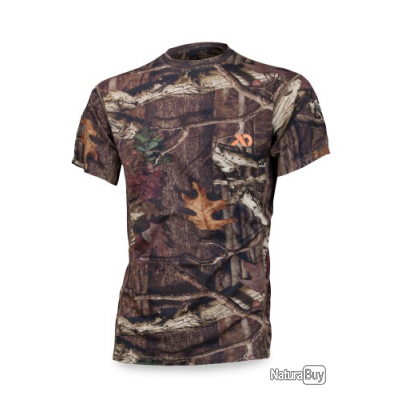T-shirt manche courte Mérinos First Lite camo mossy oak promo taille L