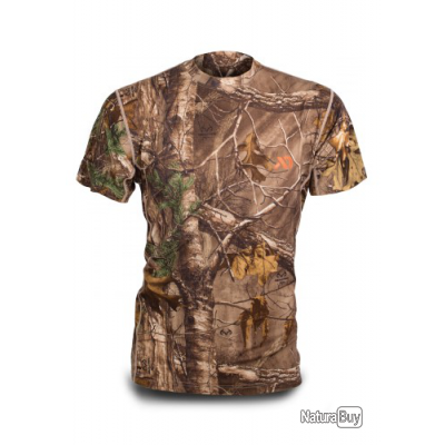 T-shirt manche courte Mérinos First Lite camo xtra promo taille L