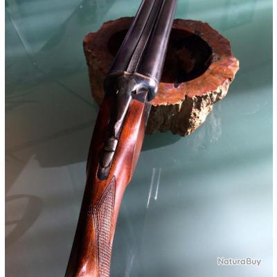 Fusil de chasse juxtaposé, Saint-Etienne, en 12/70, (20 cartouches tirées).