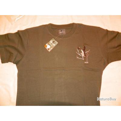 T-shirt Somlys Bécasse brodée taille L