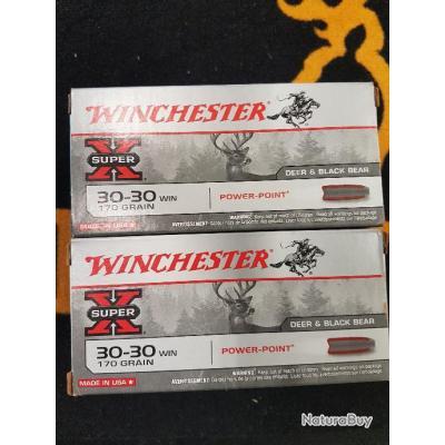 Lot 120 balles winchester cal 30-30 win 170 grains