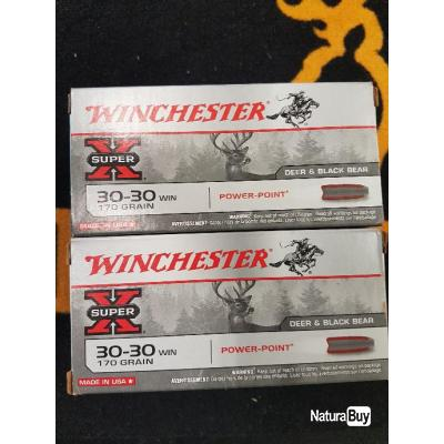 Promo 120 balles winchester cal 30-30 win 170 grains