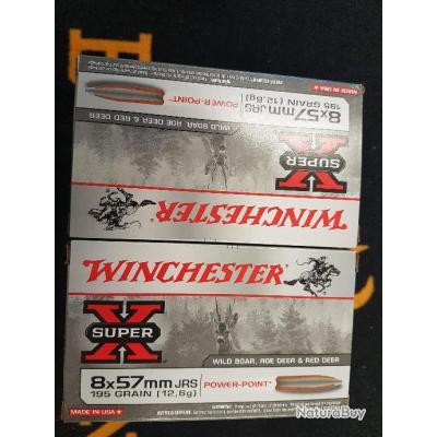 Balles winchester 8x57 JRS power point 195 grains