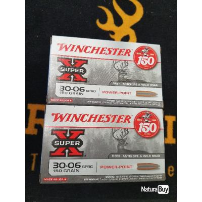 Balles winchester cal 30-06 power point 150 grains
