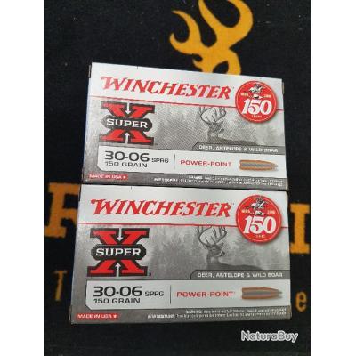 120 Balles winchester cal 30-06 power point 150 grains