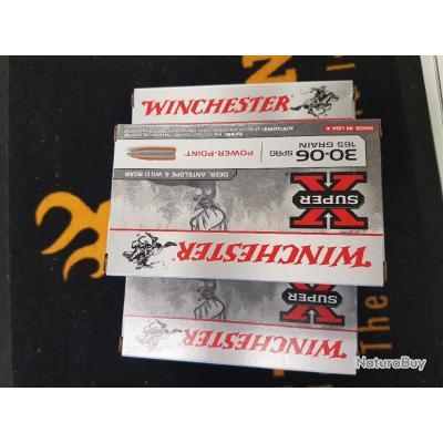 Balles winchester cal 30-06 power point 165 grains