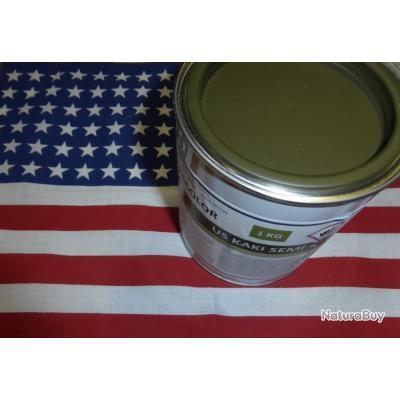 Pot 1 kg peinture us kaki semi mat 1944 jeep dodge gmc for Peinture satinee ou mat pour cuisine