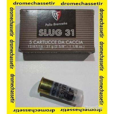 Boite de 5 cartouches Fiocchi  slug e 31 grammes cal 12/70