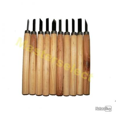 10 x couteaux burins ciseaux a bois outils pour la sculture du bois pas cher autres outils. Black Bedroom Furniture Sets. Home Design Ideas