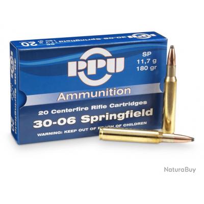 Munition 30-06sprg 180gr SP