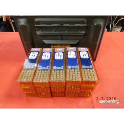 7 boites de 100 Balles 22LR CCI, mini mag, boite metallique (photo non contractuelle)