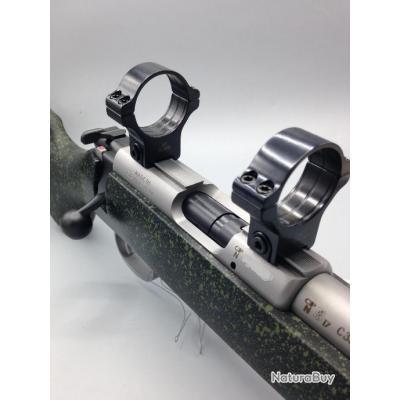 Colliers Acier Fixes Rusan - Rail de 11mm - HAUT - diamètre 30mm