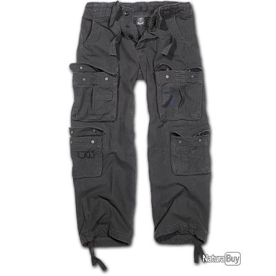 Pantalon BRANDIT Pure Vintage Noir