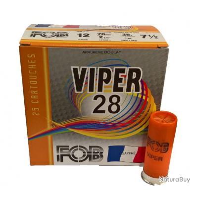 Le carton de 250 cartouches FOB VIPER 28gr BJ
