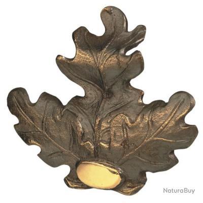 Feuille de chêne en bronze