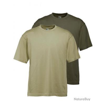 T Shirts par 2 Couleur vert + olive