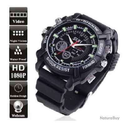Chic and swag Montre caméra espion HD 1080P étanche jusqu'à 30m 16 Go IR Night Vision IR nuit Vision